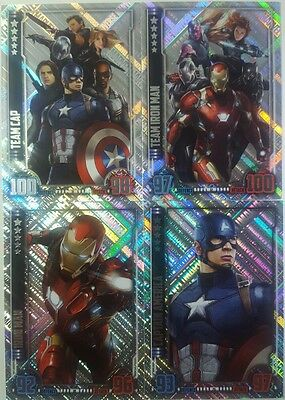 MARVEL HERO ATTAX CINEMATIC UNIVERSE 2016 UNIQUE HOLOGRAPHIC FOIL Card Set of 16