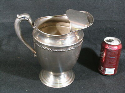 "Early 8-1/2"" Tall 72oz.Ice/Water Pitcher KEYSTONE (KS Inc) Vintage Heavy Plated"