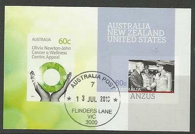 Australia 2012 Olivia Newton John Cancer Appeal Anzus Sheet Cto/used