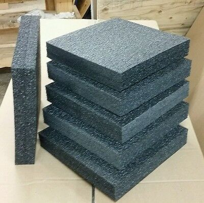 "10 Sheets - 12"" x 12"" x 2"" POLYETHYLENE PLANK FOAM, Density 1.7pcf BEST PRICE PE"