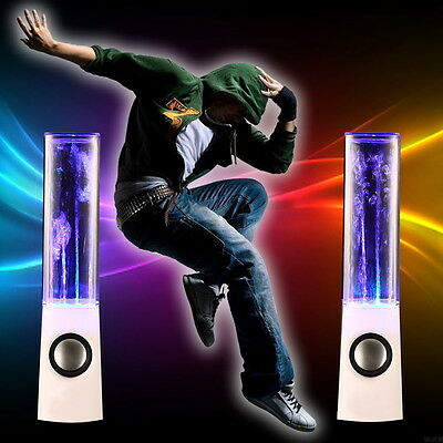 LED Dancing Water Wireless Stereo Speaker For Phone Computer Laptop TE