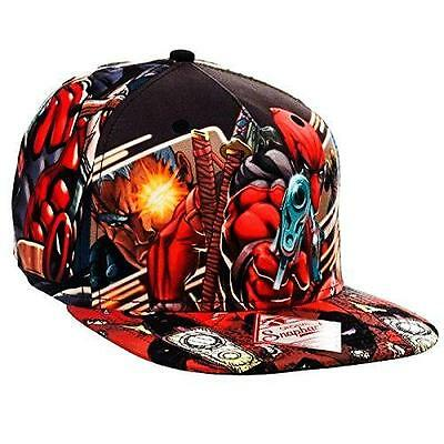 Marvel Deadpool Sublimated Snapback Cap Hat