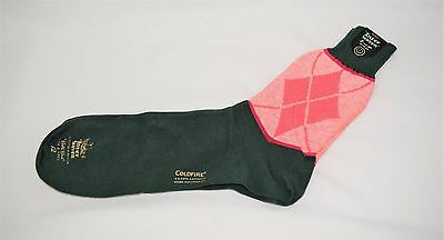 Vintage NOS NWT INTER WOVEN Hipster Argyle Socks Size 12 - Made in USA - B