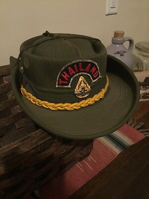 5ce41f01082 Vietnam Era Military Boonie Hat Jungle Cap (ROYAL THAI AIR FORCE BADGE )