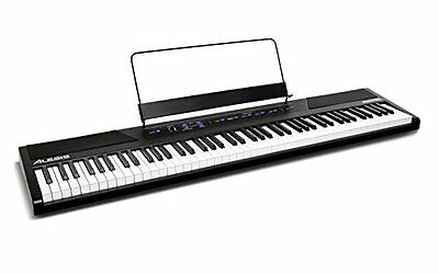 Alesis Recital Pianoforte Digitale con 88 Tasti Semi-Pesati e Altoparlanti Integ