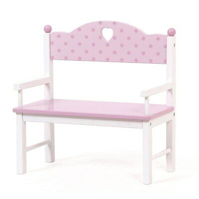 Mentari Wooden Dolly's Garden Bench for Dolls by Mamagenius