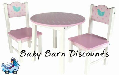 Mentari Wooden Dolly's Tea Party Setting (Inclusive of Table & 2 Chairs) for ...
