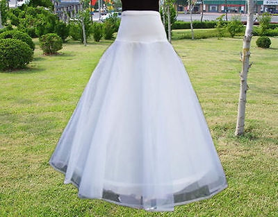 Petticoat Underskirt A-Line White Wedding Dress Bride Gowns Hot Slips 1 Hoop