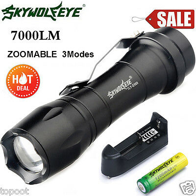7000LM Cree Q5 AA/14500 3 Modes ZOOMABLE LED Flashlight Torch Lamp Super Bright