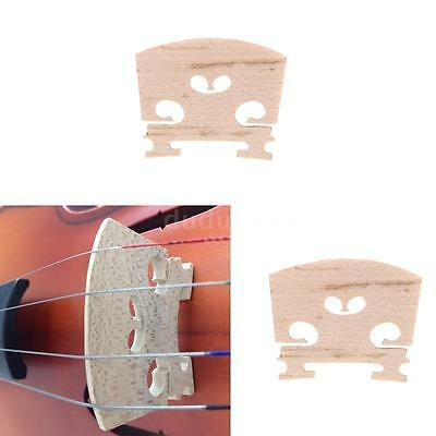 Full Size 4/4 Violin Bridge Maple 34mm in Height 3mm in Thickness Exquisite Y9D6
