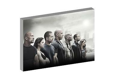 """Fast And Furious 7 12""""x16"""" (A3) Canvas Picture"""