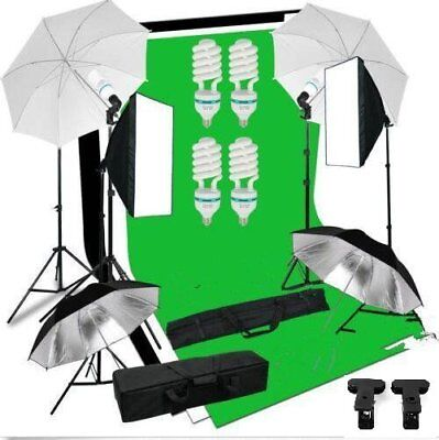 Set Illuminazione Per Studio Fotografico Con Sfondo Background Softbox Umbrelle