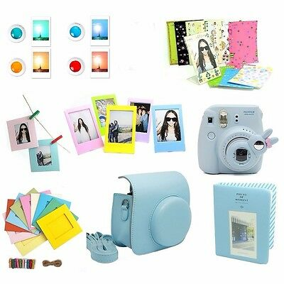 Instant Camera Case Accessories Bundle Set Kit for Fujifilm Instax Mini 8 Blue
