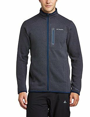 Columbia Altitude Aspect Full Zip Giacca in Pile, Blu(India Ink/Heather), XL
