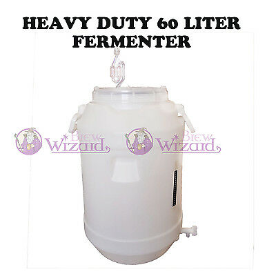 Heavy Duty 60L 2-Parts Lid Fermenter For Homebrew Spirits Making Double batch