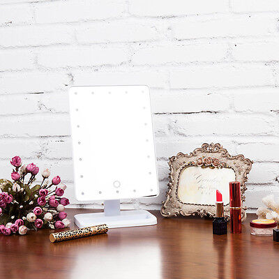 LED Touch Screen Portable 20 LEDs Lighted Makeup Vanity Mirror