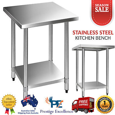 Commercial Stainless Steel Kitchen Bench Prep Work Food Catering Table 610x610mm