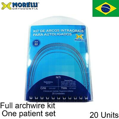 Morelli Dental Orthodontic Self Ligating Archwire Full Kit One Patient Case