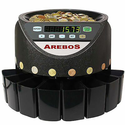 Automatic electronic money coin cash counter counting sorter auto machine Euro