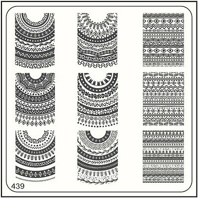 MoYou Square Stamping Art Image Plate 439 Ethnic Style, Full Design Manicure