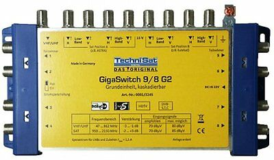 BB16 TechniSat GigaSwitch 9/8 G2 DC-NT Multiswitch with Power Supply
