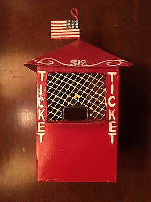 """Vintage 5"""" Carnival Circus Ticket Booth Midwest Import Cannon Falls Ornament"""