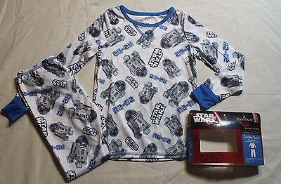 NEW~ CUDDL DUDS STAR WARS WHITE R2D2 Long Underwear Set BOYS SIZE 2T 3T