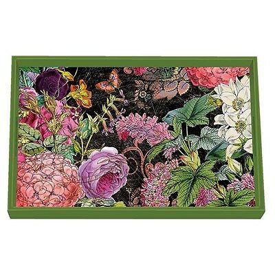 Michel Design Works 'Botanical Garden' Decoupage Vanity Wooden Tray WVTD#273 NEW
