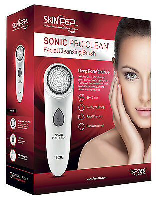 SkinPep Sonic Pro-Clean, Rechargable Facial Cleansing Brush