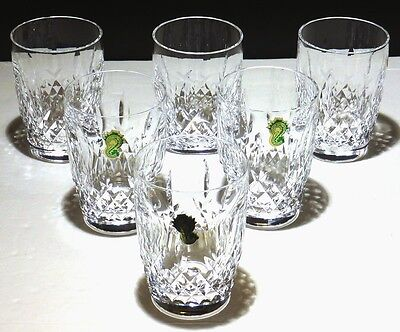 """6 Rare Vintage Waterford Crystal Kilcash 10 Ounce Tumbler Glasses ~ 4 1/4"""""""