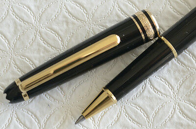 Montblanc Meisterstuck 163 Rollerball Pen, Black and Gold