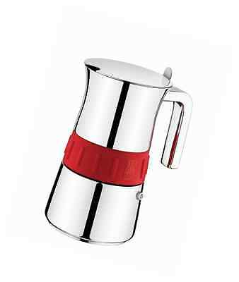 BRA ELEGANCE COLORS COFFEE MAKER - moka pots (Stainless steel, Red, Stainless st