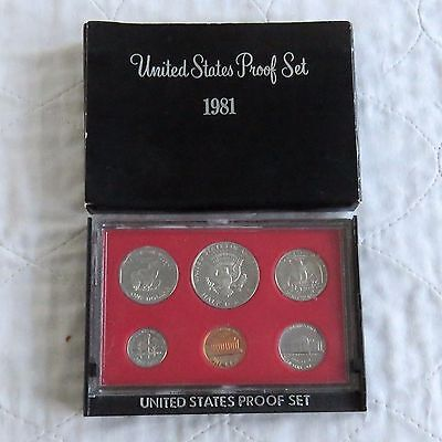 USA 1981 s 6 COIN PROOF YEAR SET - sealed with outer
