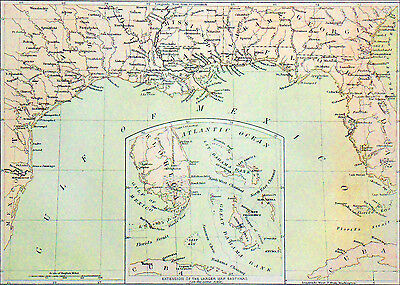 USA (Civil War)- PARTS of SOUTHERN STATES (GULF of MEXICO)- Engraving of 19th c.