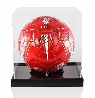 Steven Gerrard Signed Football Liverpool FC - In Acrylic Display Case