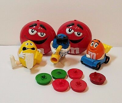 M&M M & M Candy Topper Dispenser Container Burger King Truck Saxophone Lunchbox