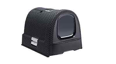Curver Covered Cat Litter Box (51 x 38.5 x 39.5 cm), Dark Grey
