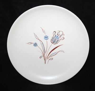 "Poole Pottery - Blue Tulip, YQ Pattern - 8"" Dessert Plate - vgc"