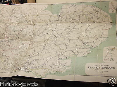 RCH railway map 1912 East of England SUPERB