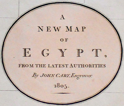 1805 Large Antique Map Chart John Cary Egypt Nile Arabia Red Sea Folio