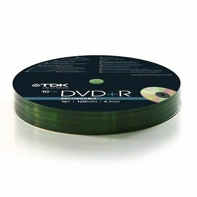 TDK DVD-R 4.7GB 16X 120MIN 10 Pack Spindle Shrink Wrapped Data Storang Picture