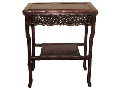 Qing Dynasty Chinese Carved Rosewood Side Table.  Late 19th Century