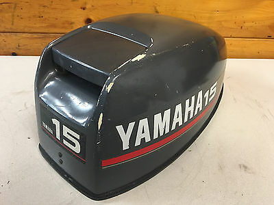 1995 Yamaha 15 Hp 2 Stroke 2 Cylinder Hood Top Cowl Cover Freshwater MN