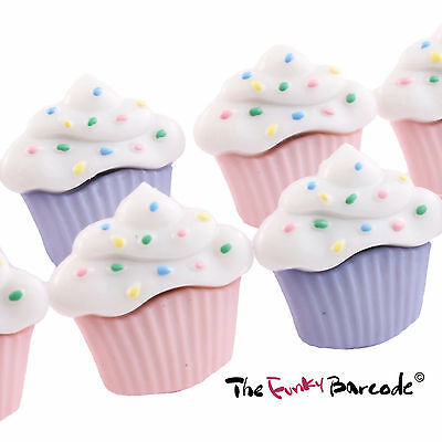 TFB - SPRINKLE MUFFIN STUD EARRINGS Retro Cool Kawaii Cupcake Treat Party Bake