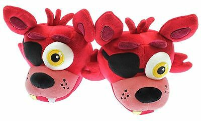 """Five Nights at Freddy's """"Foxy"""" Plush Adult Slippers SIZE SMALL"""