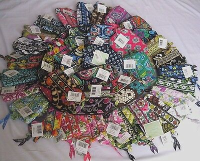Vera Bradley SMALL COSMETIC Case BRUSH Bag MAKEUP for PURSE Tote BACKPACK  NWT