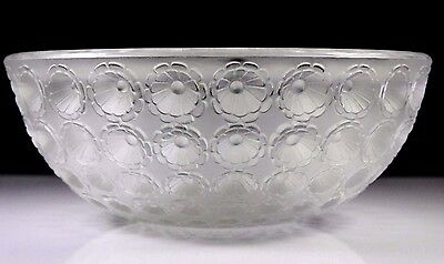 Rene Lalique Nemours Art Deco Crystal Glass Bowl C.1929
