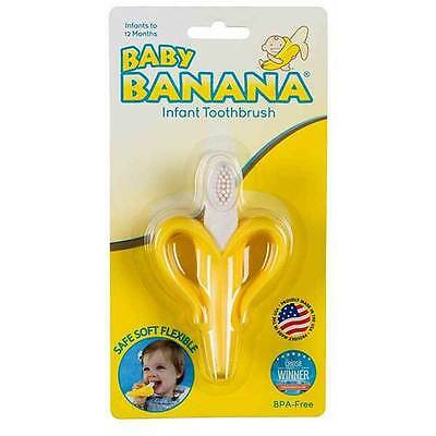 GENUINE Baby Banana Infant Training Teething Toothbrush Teether Soft Bendable