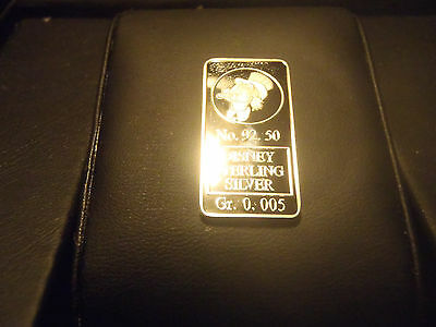 Extremely Rare! Walt Disney Sterling Silver 925 Scrooge Mcduck LE of 100 Bar