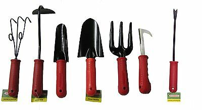 Bosmere P803 Hand Tools with Red Handles Set of 7